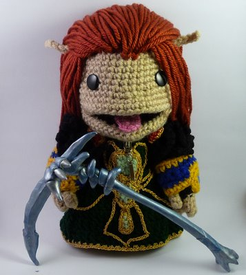 world of warcraft blood elf warlock. Sackboy the lood elf Warlock!