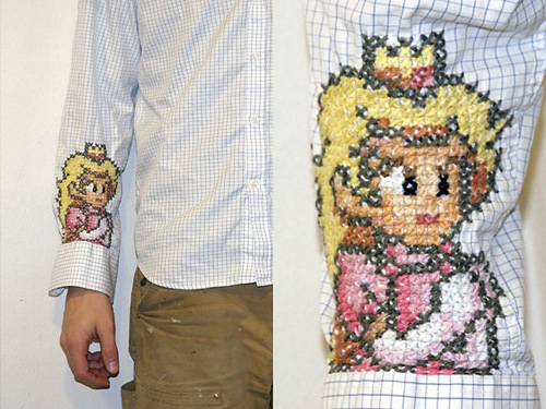Super Mario princess cross-stitch