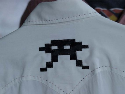 Spaceinvaderwesternshirt