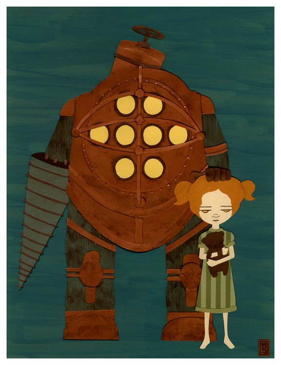 Bioshock collage This is purty Bioshock flat small 2