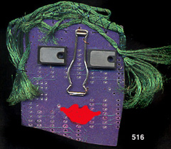 Circuit board face pin